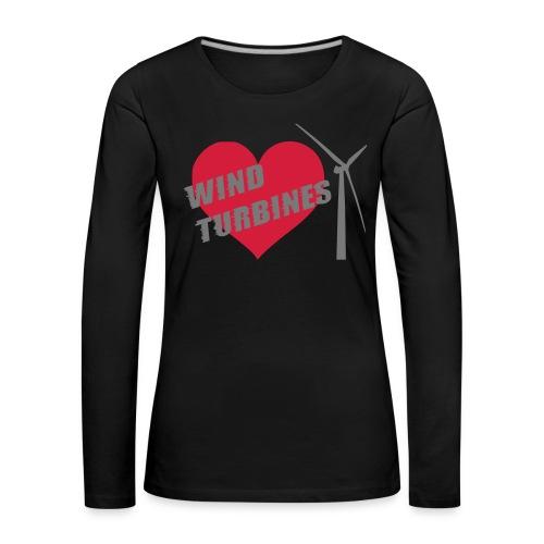 wind turbine grey - Women's Premium Longsleeve Shirt