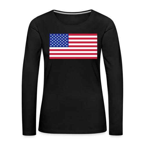 USA / United States - Vrouwen Premium shirt met lange mouwen