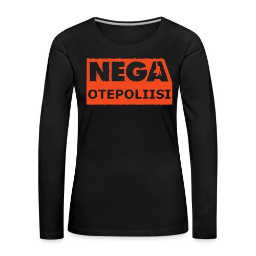 OtePoliisi pinssi iso - Naisten premium pitkähihainen t-paita