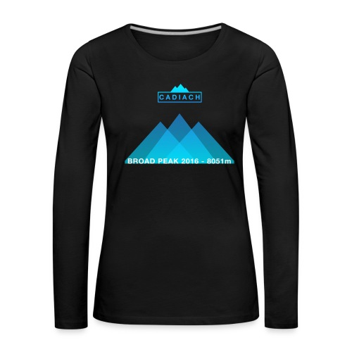 Cadiach Broad Peak 2016 - Hombre - Camiseta de manga larga premium mujer