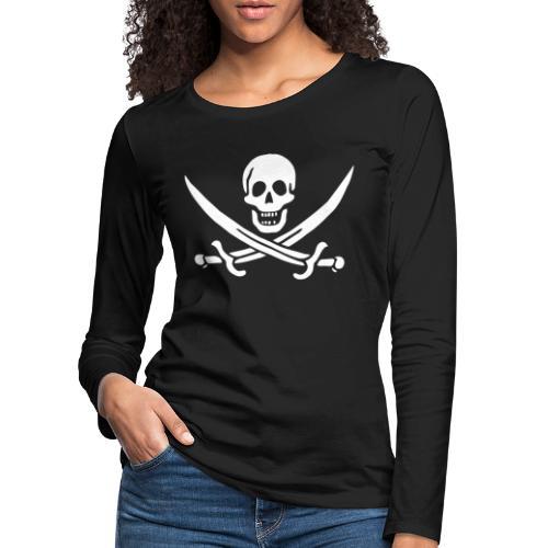 Jack Rackham Flag - T-shirt manches longues Premium Femme