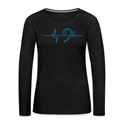 LowHeartBeat cyan - Frauen Premium Langarmshirt