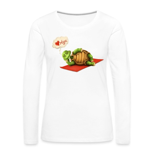 Love-Yoga Turtle - Frauen Premium Langarmshirt