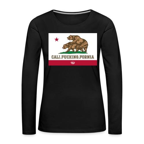 California, Californiano, Fuck, Orso - Maglietta Premium a manica lunga da donna