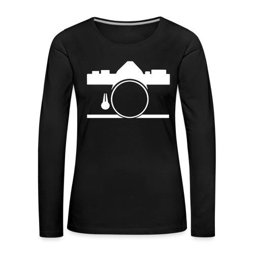 Vintage camera OM film slr - Maglietta Premium a manica lunga da donna
