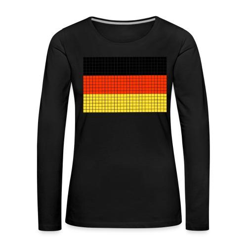 german flag.png - Maglietta Premium a manica lunga da donna