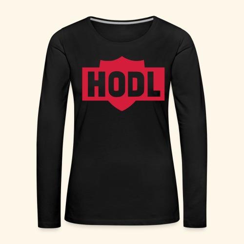 HODL TO THE MOON - Naisten premium pitkähihainen t-paita