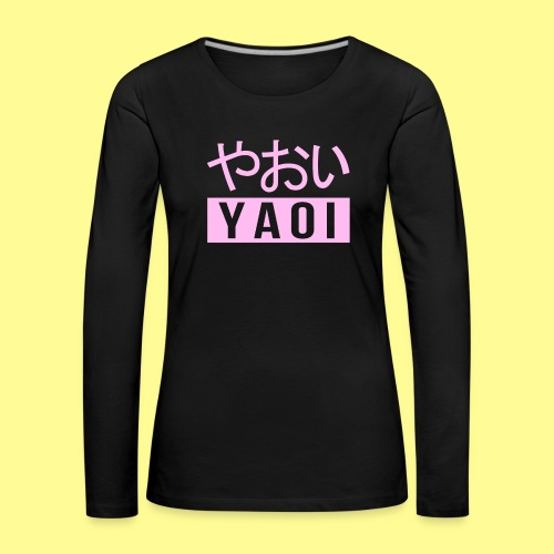 Pink Yaoi やおい - Maglietta Premium a manica lunga da donna
