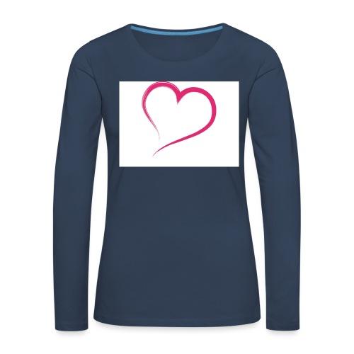 Hart - Vrouwen Premium shirt met lange mouwen