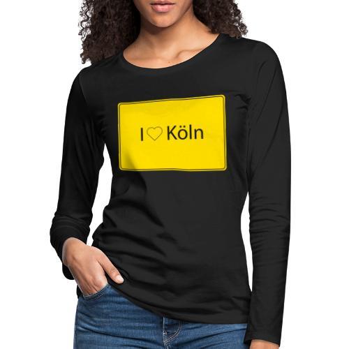 I love Köln - Frauen Premium Langarmshirt