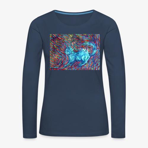 Kotek - Koszulka damska Premium z długim rękawem