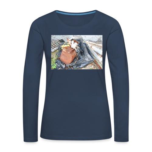 Trash 1 - Dame premium T-shirt med lange ærmer