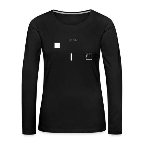 /obeserve/ sweater (M) - Premium langermet T-skjorte for kvinner