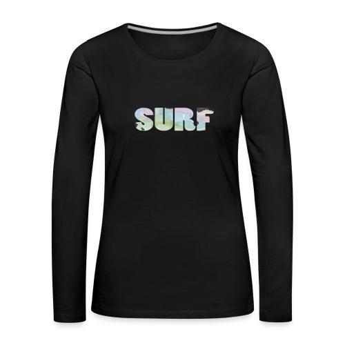 Surf summer beach T-shirt - Women's Premium Longsleeve Shirt