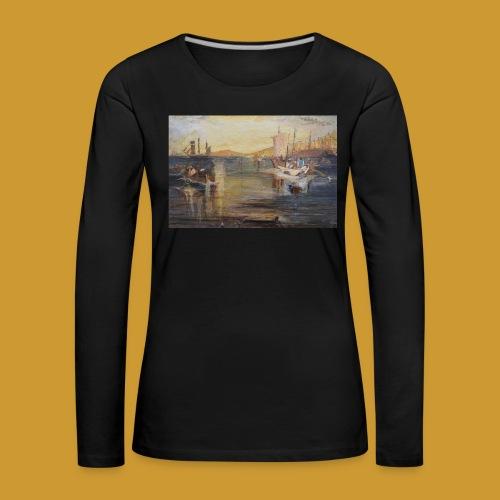 White Fishing - Mark Noble Art - Women's Premium Longsleeve Shirt