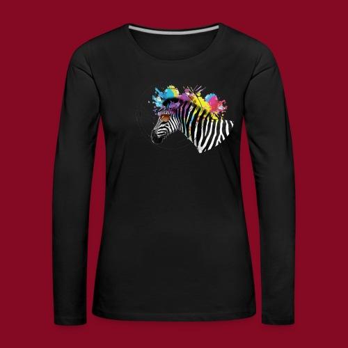 Watercolour-Z - Maglietta Premium a manica lunga da donna