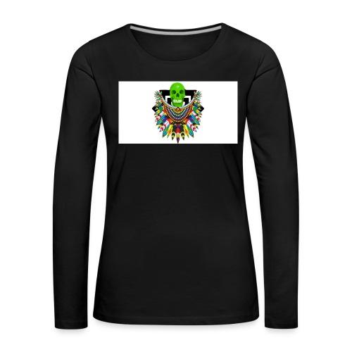 Colorfull skull - Naisten premium pitkähihainen t-paita