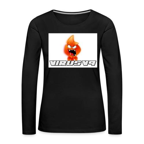 Virusv9 Weiss - Frauen Premium Langarmshirt