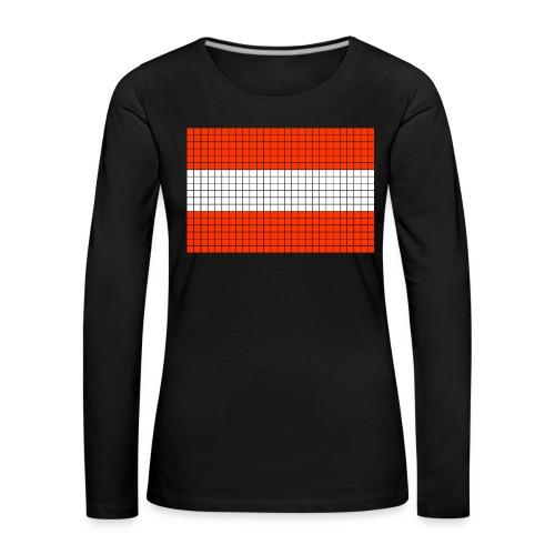 austrian flag - Maglietta Premium a manica lunga da donna