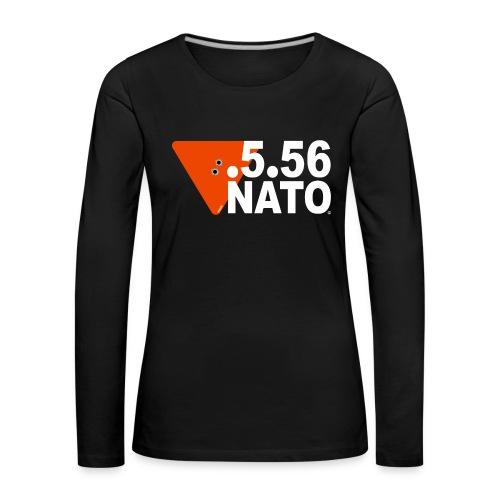 .5.56 NATO BLANC - T-shirt manches longues Premium Femme