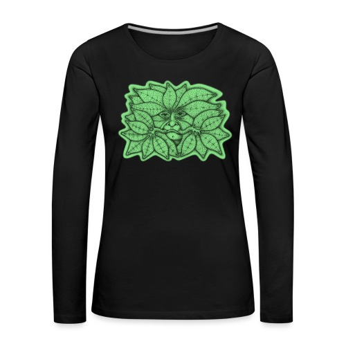 Green Man for Pagan Global Warming/Climate Change - Women's Premium Longsleeve Shirt
