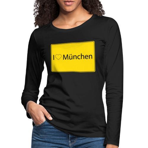 I love München - Frauen Premium Langarmshirt
