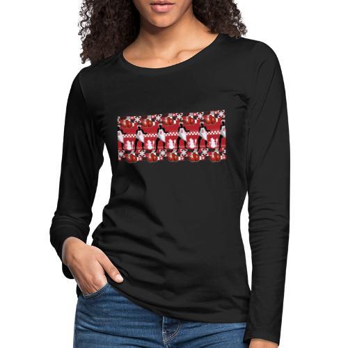 Motif Noël J'ai les boules (sans texte) - T-shirt manches longues Premium Femme