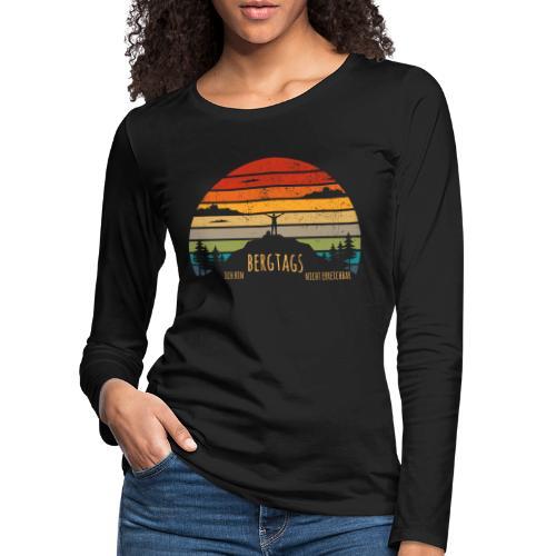 lustige Wanderer Sprüche Shirt Geschenk Retro - Frauen Premium Langarmshirt