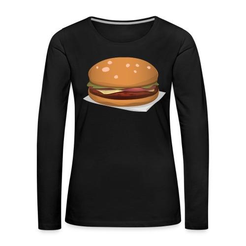hamburger-576419 - Maglietta Premium a manica lunga da donna