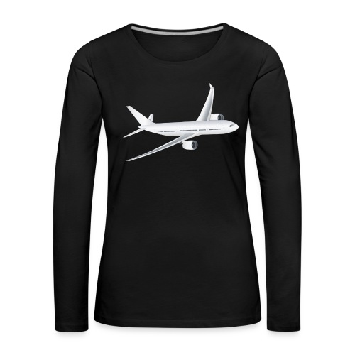 Flugzeug - Frauen Premium Langarmshirt