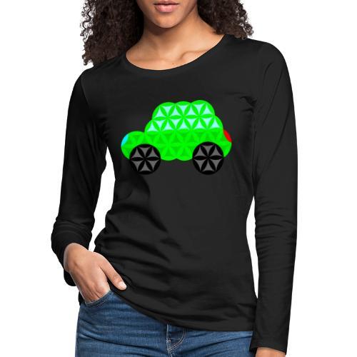 The Car Of Life - M01, Sacred Shapes, Green/R01. - Women's Premium Longsleeve Shirt