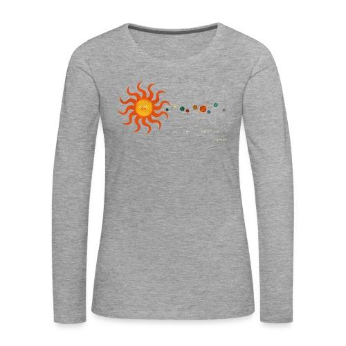 Solar System - Women's Premium Longsleeve Shirt