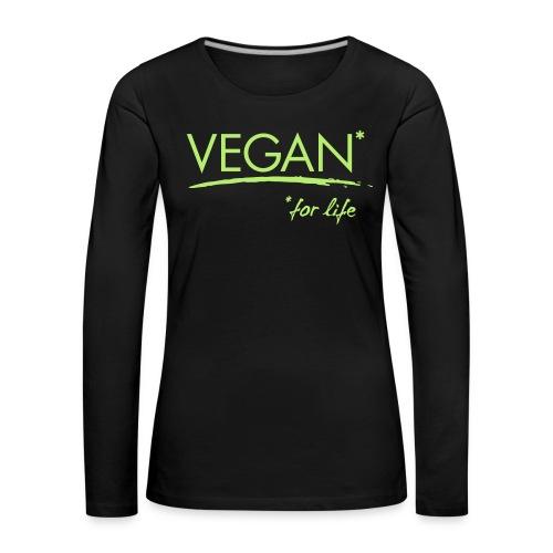vegan for life 1c - Frauen Premium Langarmshirt
