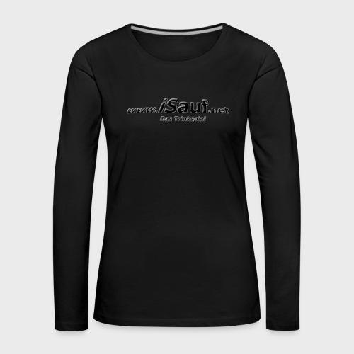 iSauf-Schriftzug - Frauen Premium Langarmshirt