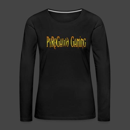 PyroGawd Logo Text - Frauen Premium Langarmshirt