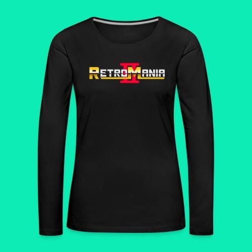 Retro Mania II - Logo - Frauen Premium Langarmshirt