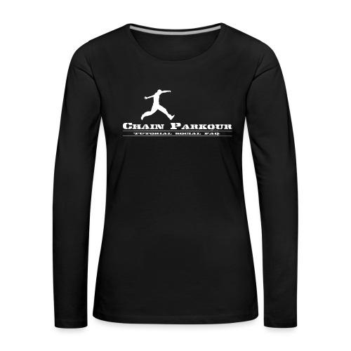 CHAIN PK OFFICIAL - Maglietta Premium a manica lunga da donna