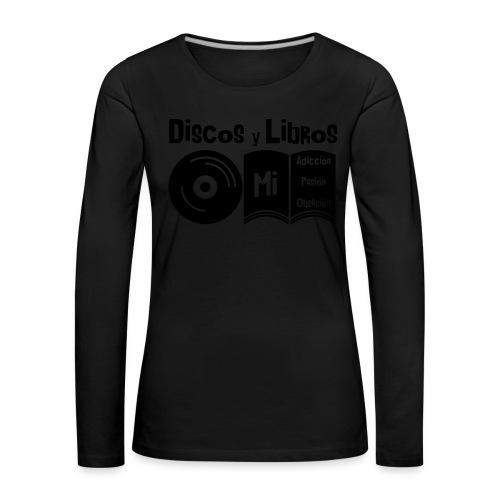 Discos y Libros - Camiseta de manga larga premium mujer