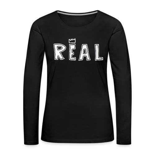 REAL (White) - Vrouwen Premium shirt met lange mouwen