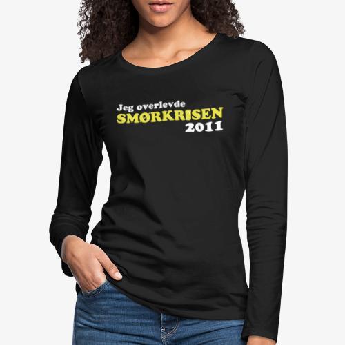 Smørkrise 2011 - Norsk - Premium langermet T-skjorte for kvinner