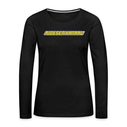 Pjoesen Kanaal - Vrouwen Premium shirt met lange mouwen