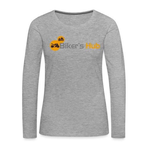 Biker's Hub Small Logo - Women's Premium Longsleeve Shirt