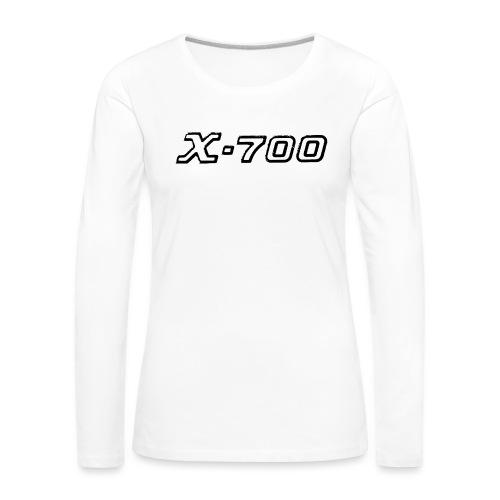 Minolta X-700 White - Maglietta Premium a manica lunga da donna