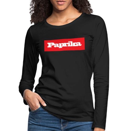 paprika - Frauen Premium Langarmshirt