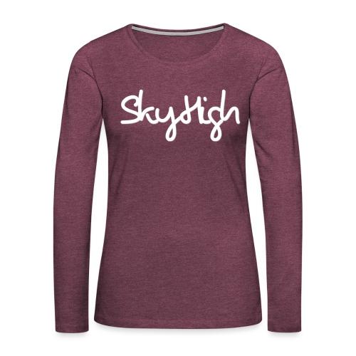 SkyHigh - Men's Premium T-Shirt - White Lettering - Women's Premium Longsleeve Shirt