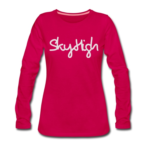 SkyHigh - Women's Hoodie - Gray Lettering - Women's Premium Longsleeve Shirt