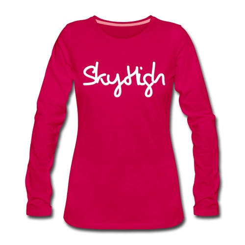SkyHigh - Men's Premium Hoodie - White Lettering - Women's Premium Longsleeve Shirt