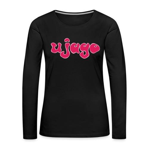 ujago magenta - Frauen Premium Langarmshirt