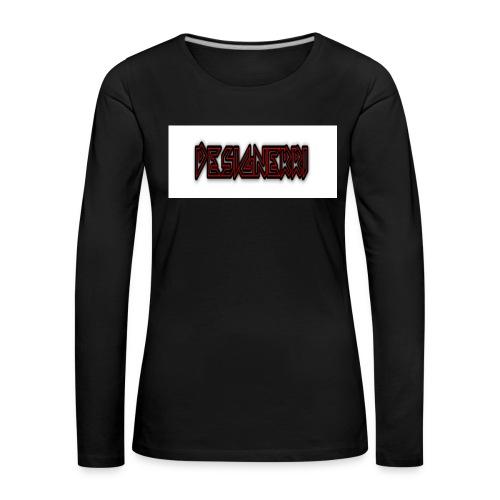 designerri - Långärmad premium-T-shirt dam
