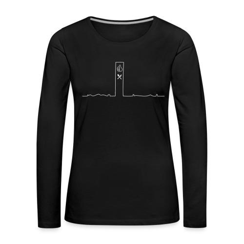 pikkuskyline_white - Naisten premium pitkähihainen t-paita